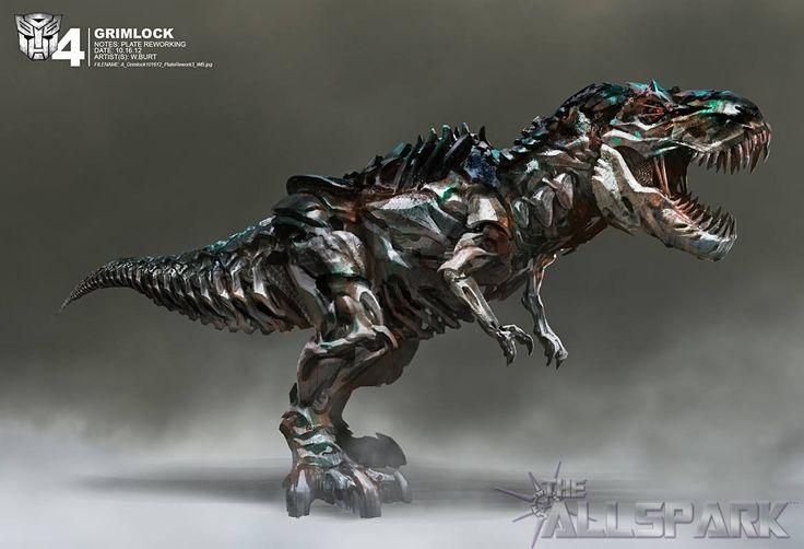Transformers age of extinction concept grimlock dragons - Dinosaure transformers ...