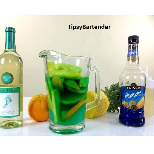 The Blue Sangria! Impress your friends with this sexy drink! For the recipe, visit us here: http://www.tipsybartender.com/blog/the-blue-sangria