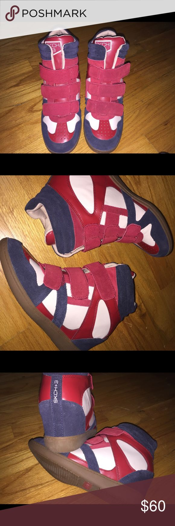 SKCH+3 sneaker wedges New!! Tagged nike for exposure Skechers Shoes Sneakers