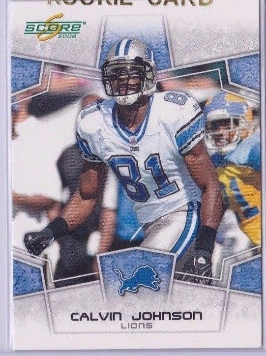 2008 Score Calvin Johnson Detroit Lions Football Sports Trading Card #101 #DetroitLions