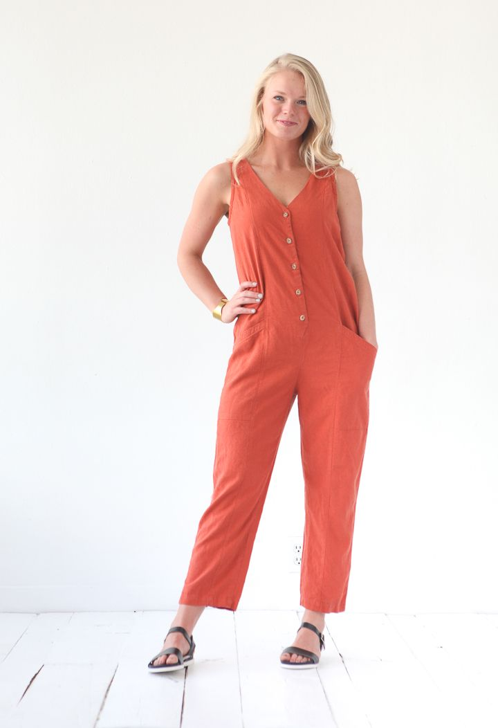 yari jumpsuit pattern | true bias | create | Costura, Moldes