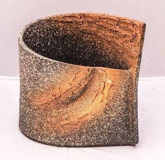 Kunstvoll gearbeitete Shigaraki Vase