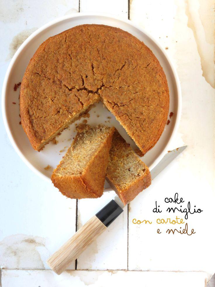 cake miglio, carote e miele