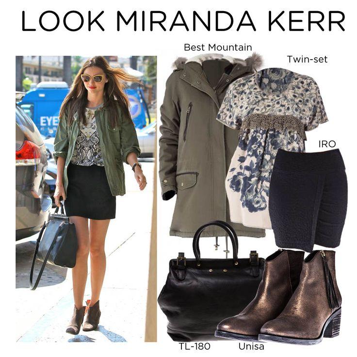 Look Miranda Kerr en Miinto.es, con #Twinset #Bestmountain, #Unisa, #TL180, #IRO...de YUBE Shop Online, Pez Shop, Scarly Madrid Y eMe shoes  Unisa: http://www.miinto.es/p-13842-botin-bajo Twin-set: http://www.miinto.es/p-14148-blusa Best Mountain: http://www.miinto.es/p-14222-abrigo-verde IRO: http://www.miinto.es/p-12682-falda-draped tl-180: http://www.miinto.es/p-9029-bolso-citadin-tl-180
