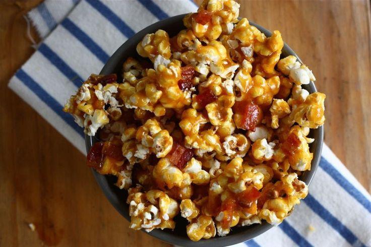 Spicy Caramel Bacon Popcorn | Popcorn | Pinterest