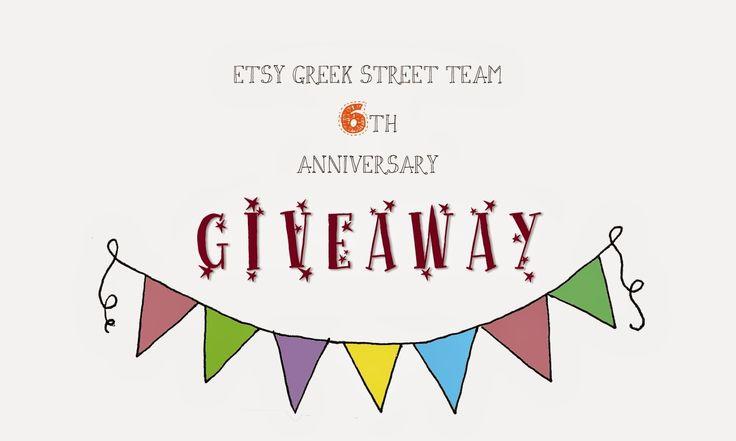 Etsy Greek Street Team 6th Anniversary Giveaway!