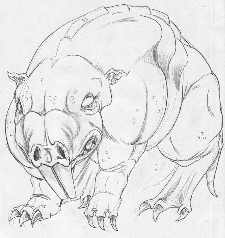 mole rat coloring page