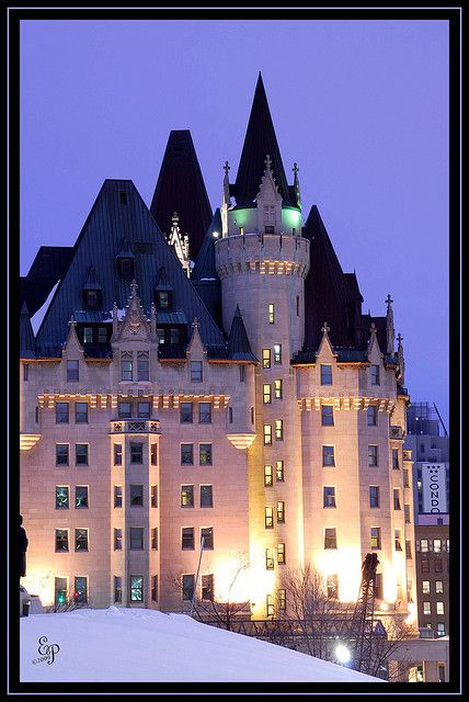 Chateau Laurier, Ottawa, Ontario, Canada - a great place to dine and stay on a visit to Ottawa. Used to be home to Josuf Karsh, great & international renowned portrait photographer of heads of states, queens and kings. MR