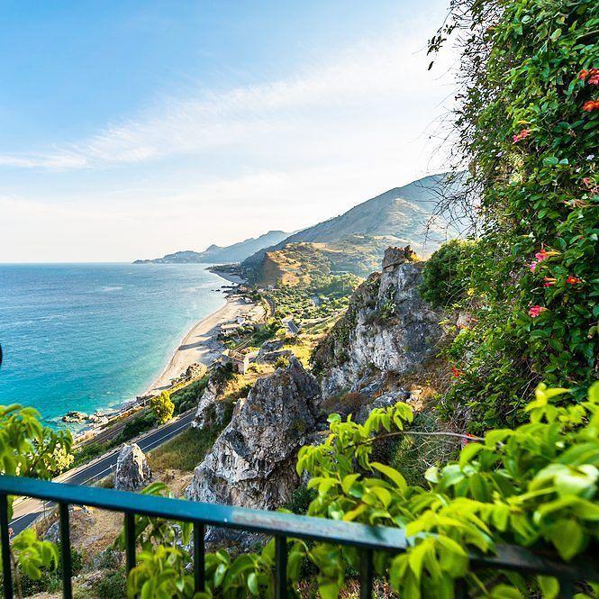 From a balcony in Sicily.  . . . . . #travel #inspiration #sicily #italy #balcony #viewfrombalcony #beautifulitaly #europe #perfectholiday #holidaygoals #travelingram #explore #planetearth #discoveryourworld #travellink #travelinspiration