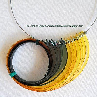 collana in pet della bravissima riciclatrice di bottiglie di plastica Cristina Sperotto