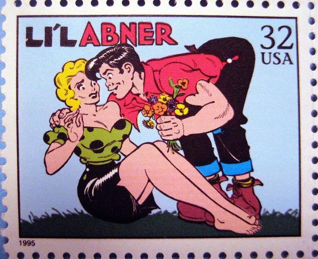 Vintage postage stamp love