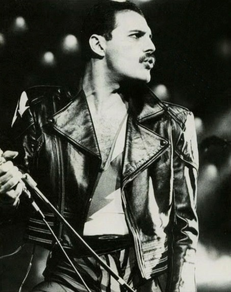 Freddie Mercury-sung every song with talent, passion and a little theatre... love him