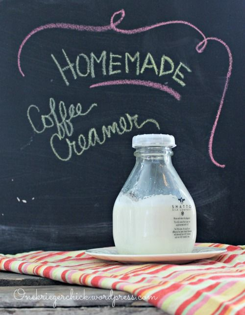 Homemade Coffee Creamer {3 ingredients}