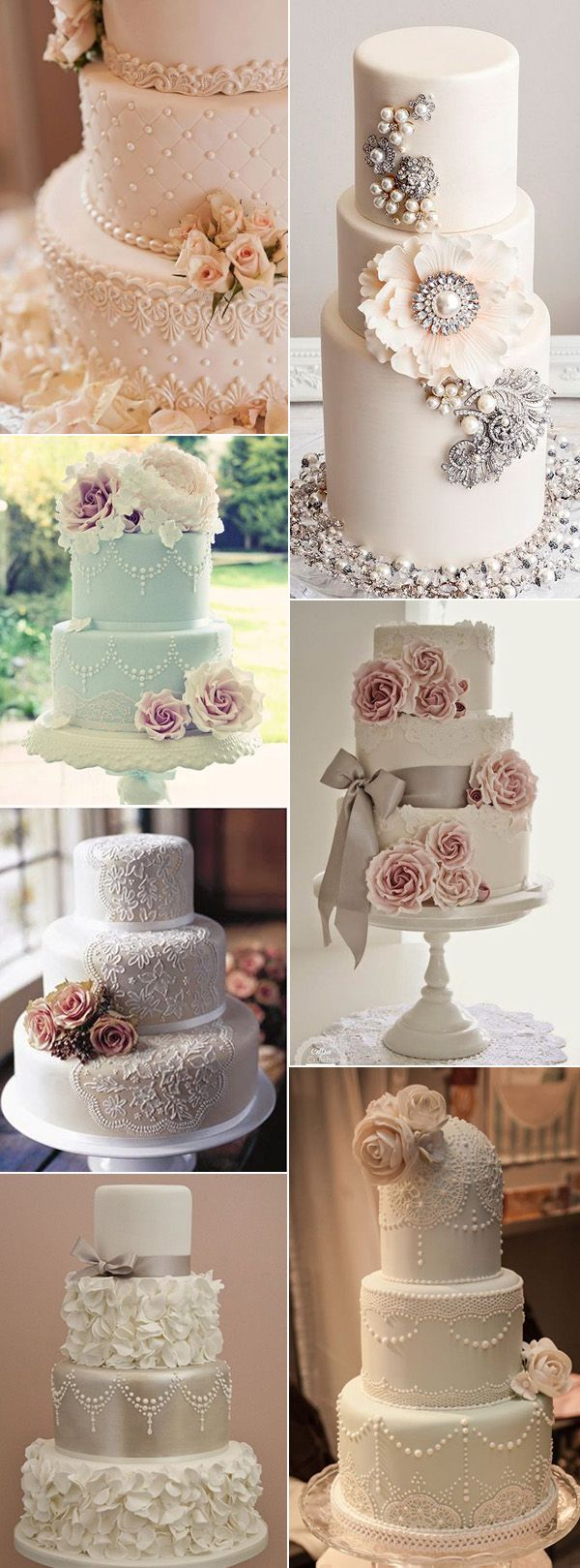 vintage wedding cakes for 2017 trends