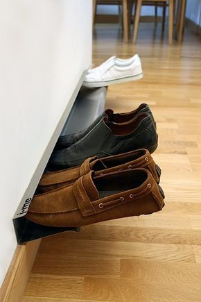 Das horizontale Schuhregal für schwebende Schuhe   KlonBlog