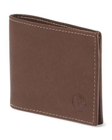 Leather Blix Slimfold Wallet - TIMBERLAND brown