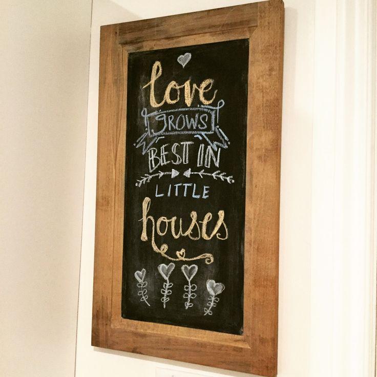 Chalkboard On Kitchen Wall