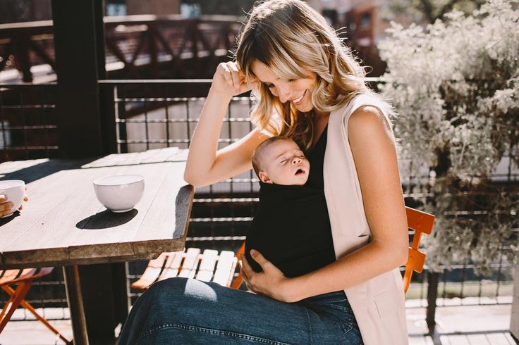 The @lalabubaby Soothe Shirt® is a stylish top for mom, cozy pouch for baby, and nursing bra all-in-one — made in the USA.