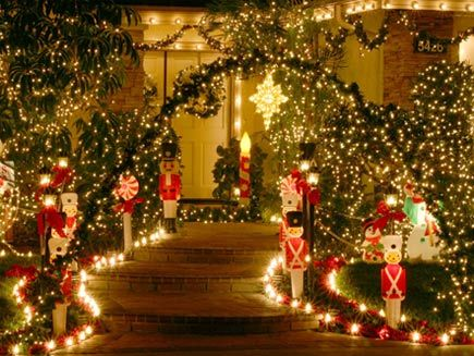 If you are setting up borders, pre lay out lights, candy canes, etc.  This way you don't put them in the hard ground only to have to pull them back up again.