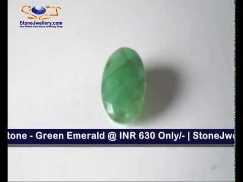 3.15 Carat Size - Panna Stone - Green Emerald @ INR 630 Only/- | +91-986...