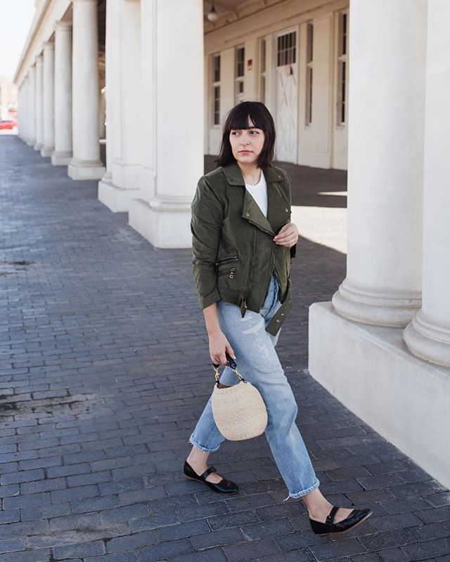 c097fc2a954a7 rounding out my fall wardrobe with the softest faux suede jacket and the  mary janes of my dreams. use code CALIVINTAGE for 15% off at  fauxgerty and  visit ...