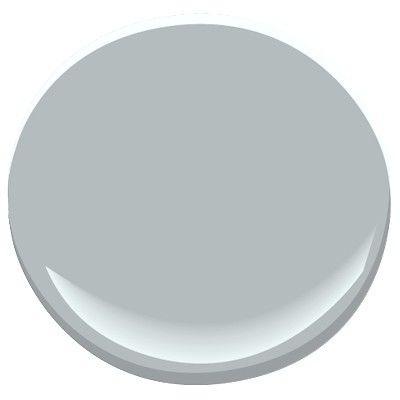 Benjamin Moore Blue Springs-cool, fresh, almost frosted shade of blue-gray looks appealingly refreshing in any light