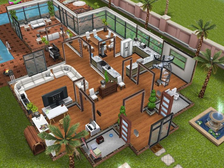 sims mansion freeplay houses plans floor storey modified play mansions homes building desain rumah