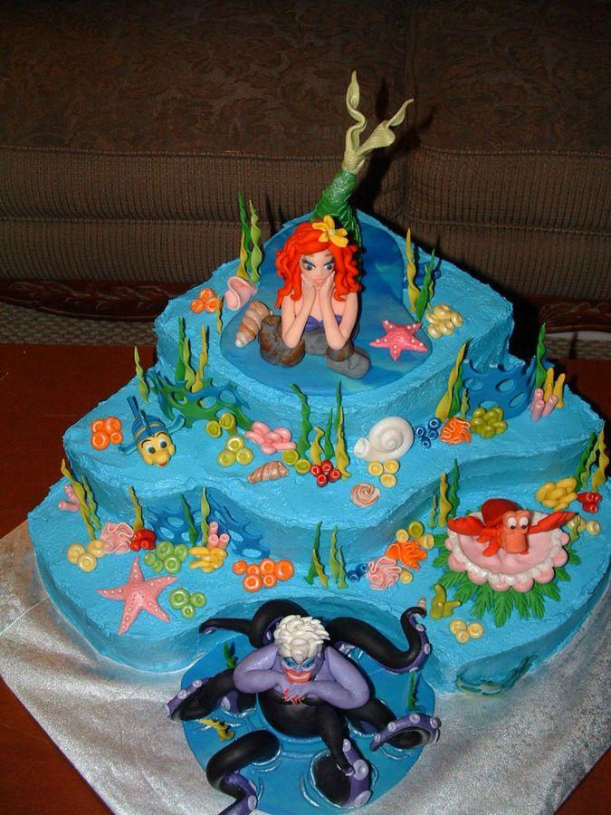 44 best Ariel birthday images on Pinterest Ariel cake Disney