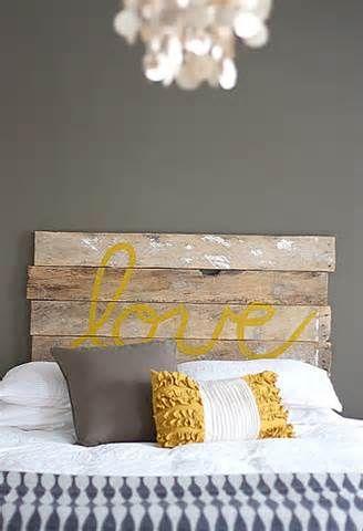 Greyish Green walls with navy, yellow, tan and grey accents