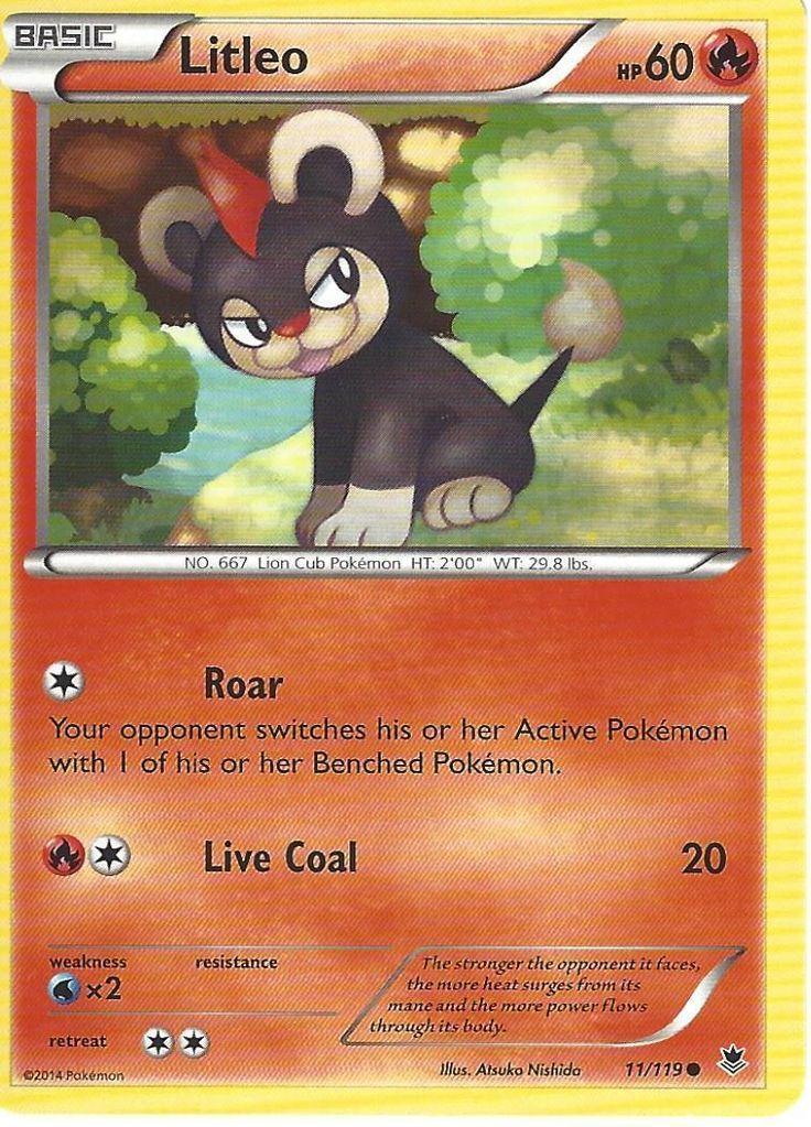 Pokemon xy phantom forces litleo 11119 pokemon