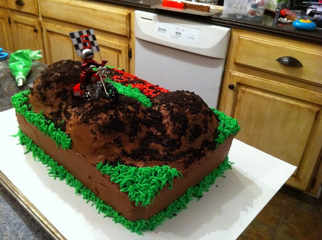 Motocross Cake Ideas | back of dirt bike cake cake for a 5 year old s birthday
