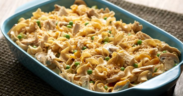 Tuna Noodle Casserole – Nothing says comfort like a golden, bubbly, delicious tuna casserole made with always smooth, firm and delicious No Yolks® noodles.