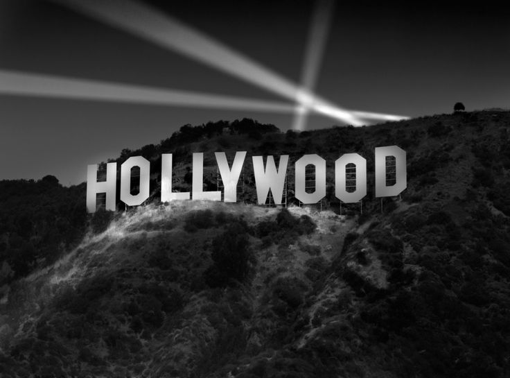 Wouldn't this look awesome blown up into a poster, or several posters, with the contrast turned up a bit? Maybe I could make the Hollywood letters out of balloons instead?!    #Richard-Lund-hollywood-sign-at-night