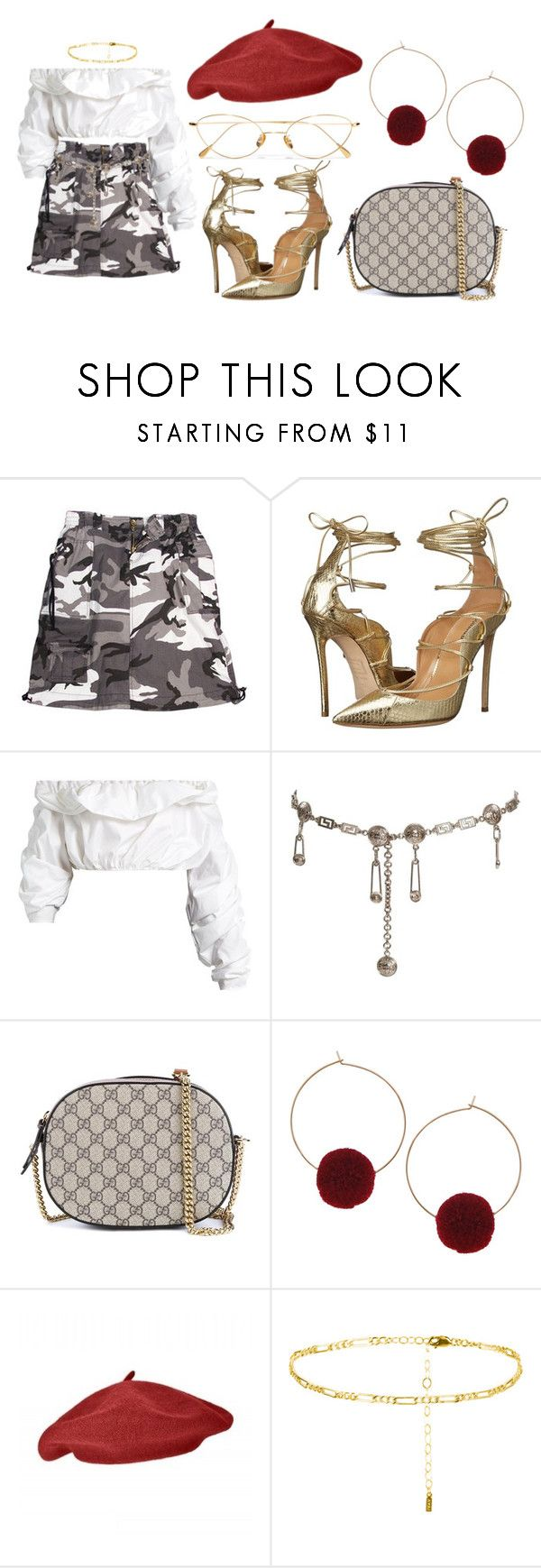 """""""Sem título #206"""" by gothic-girly ❤ liked on Polyvore featuring Rothco, Dsquared2, E L L E R Y, Versace, Gucci, Humble Chic, CO and Cutler and Gross"""