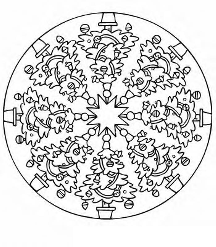 Desenhos para Colorir: Mandalas de Natal