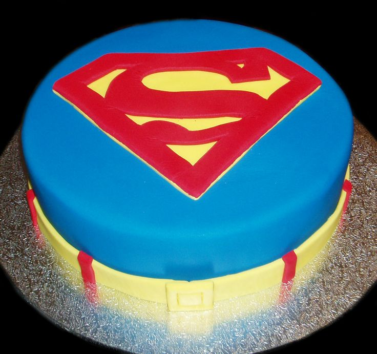 Cake Images Superman : Pin by Kristen S on Super hero party - done Pinterest