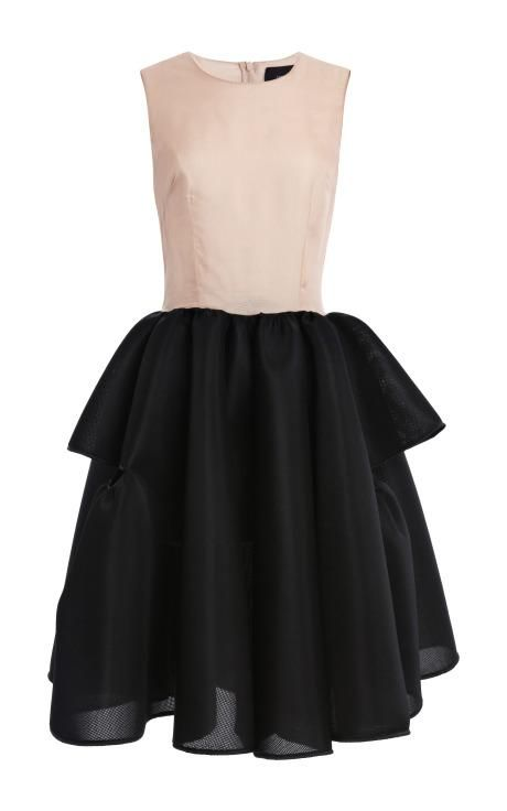 Preorder Simone Rocha Nude Silk Organza Top Full Skirt Dress