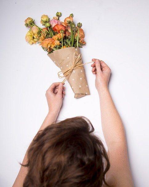Упаковка живых цветов