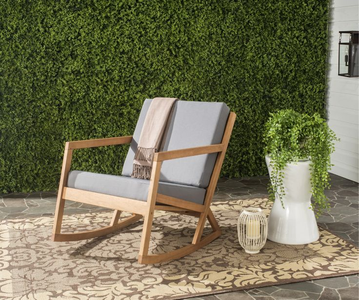 Camdenton Rocking Chair with Cushions in 2020 Patio