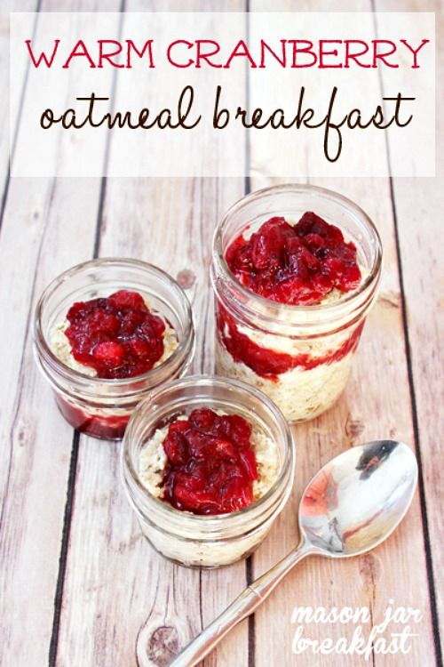 Get in the holiday spirit first thing in the morning with this cranberry flavored Mason jar breakfast. Seriously, when you start your day off with this Mason jar recipe, you're sure to find yourself humming Christmas carols in the shower & exuding good will all day long!