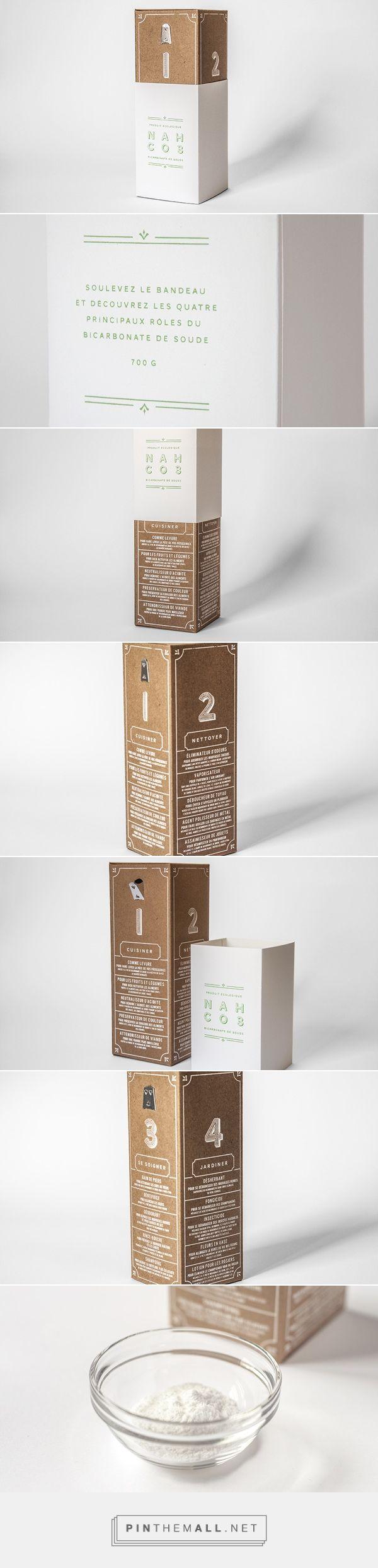 NAHCO3 -  packaging design for baking soda