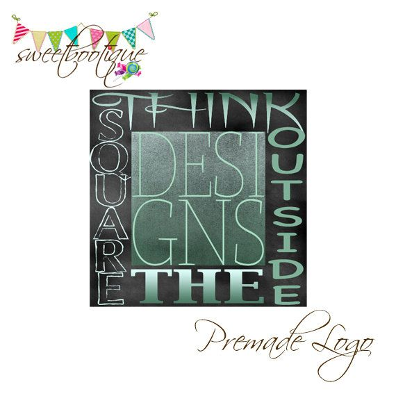 FULLY CUSTOMISABLE  Premade Logo  Outside the by SweetBootique