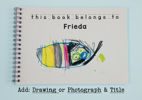 Children love having their name printed on things and this notebook is extra special by adding their own drawing or photograph to the front cover.