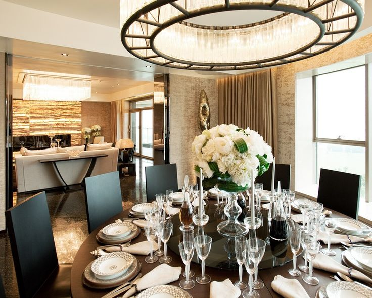 high end glamorous design by steve leung - dining space