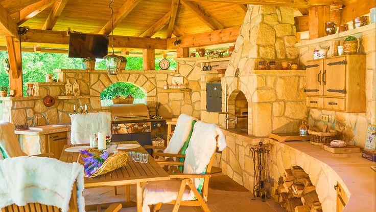 Kamenná kuchyně La Provence pohled 3