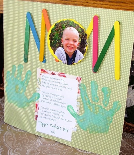 Mother's day craft, be sure to include a cute picture!