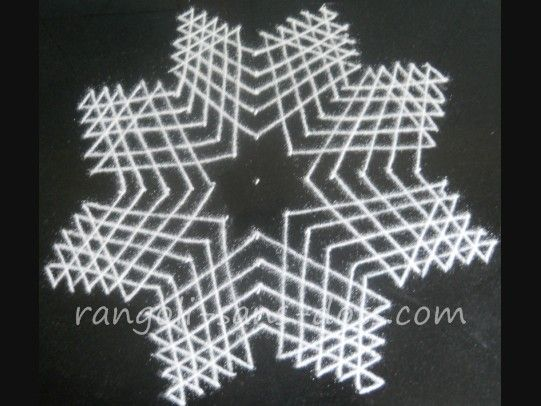 Rangoli with dots - step 5