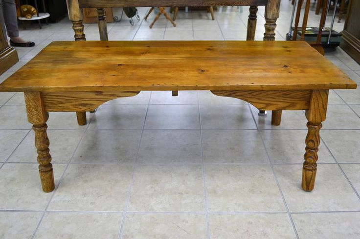 "2-Board Reclaimed Pine Top Coffee Table - ""A cool, rustic look and virtually indestructable if you've got kids!"" - 47.5"" X 22"" X 18.5""H"