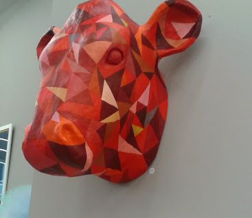 Bull's head by Paper Sculpture