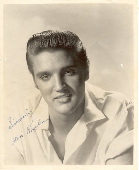 Cotton Bowl - Oct. 11, 1956- Photo courtesy Steve Bonner who bought the stamped autographed photo of Elvis at the show.